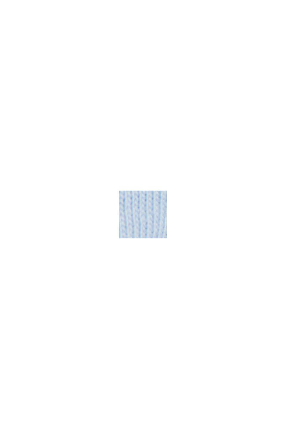 Jersey-T-Shirt aus 100% Organic Cotton, PASTEL BLUE, swatch