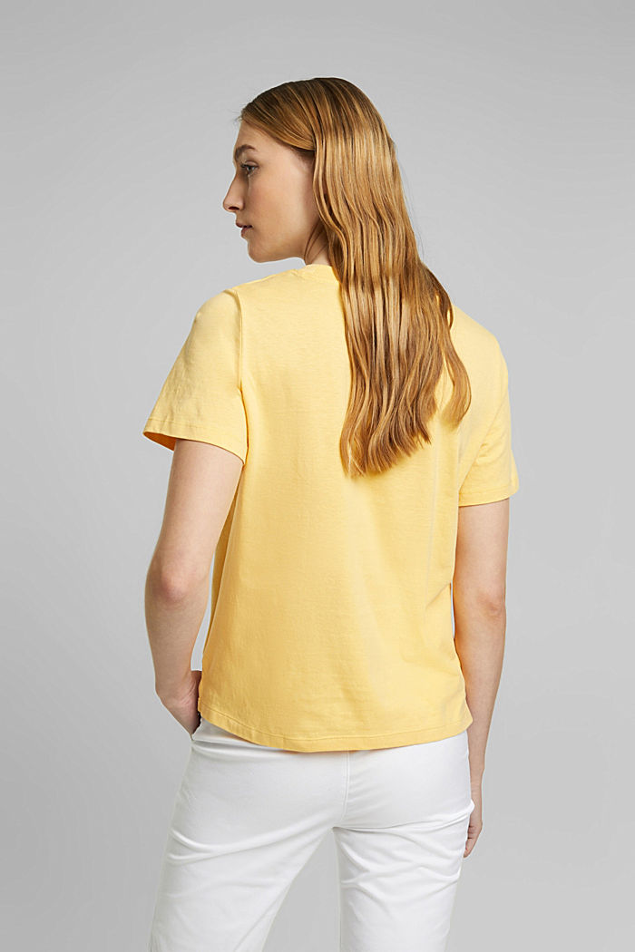 Jersey-T-Shirt aus 100% Organic Cotton, SUNFLOWER YELLOW, detail image number 3