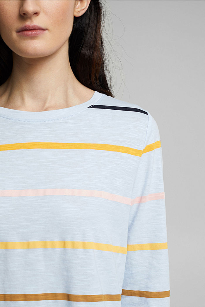 Long sleeve top made of 100% organic cotton, PASTEL BLUE, detail image number 2