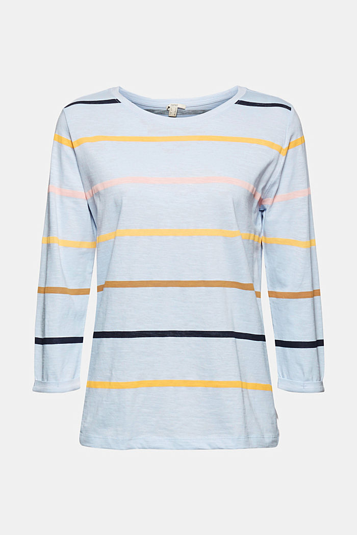 Long sleeve top made of 100% organic cotton, PASTEL BLUE, overview