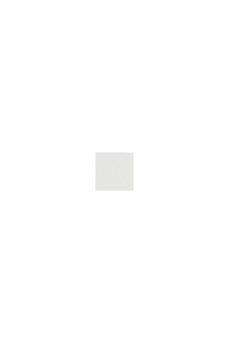 Satin/Jersey-Shirt mit Bio-Baumwolle, OFF WHITE, swatch