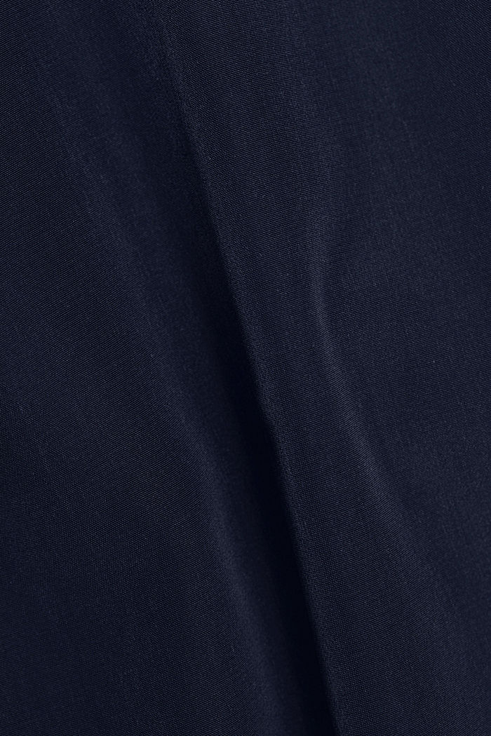 Satin/jersey top with organic cotton, NAVY, detail image number 4