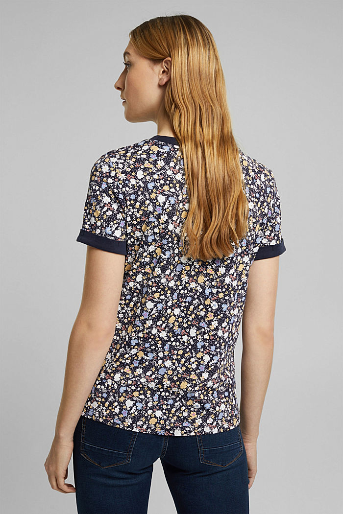 Print-Shirt mit Organic Cotton, NAVY, detail image number 3