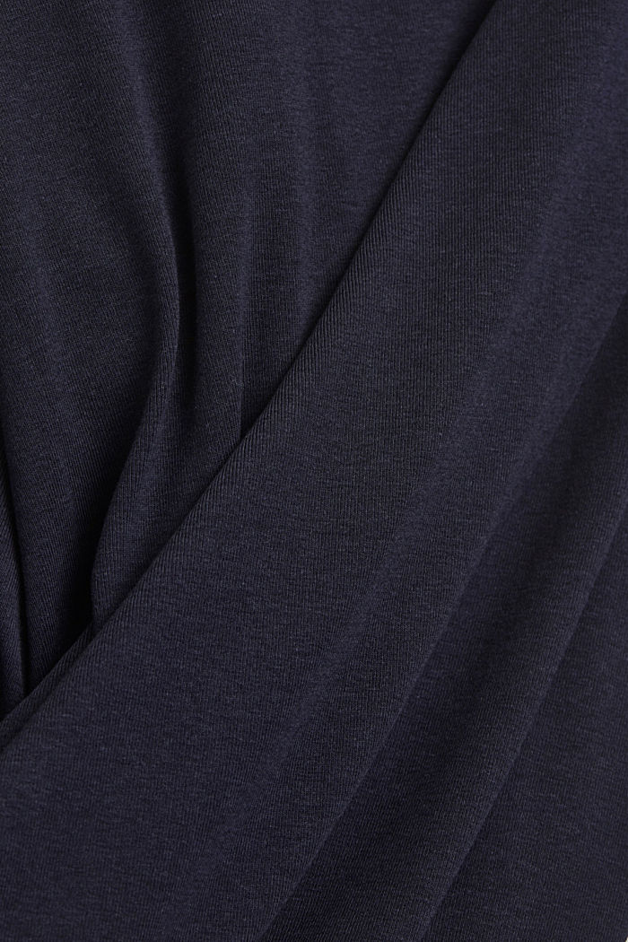 CURVY long sleeve top with organic cotton/ ECOVERO™, NAVY, detail image number 4