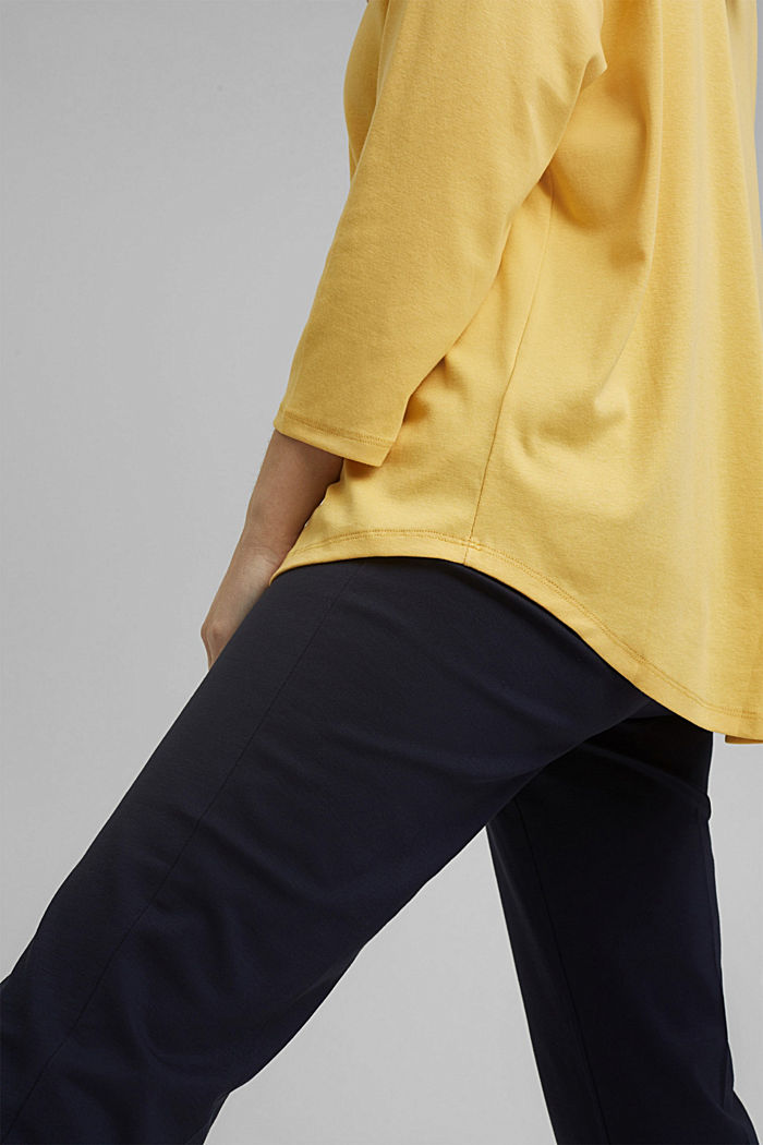 CURVY long sleeve top with organic cotton/ ECOVERO™, SUNFLOWER YELLOW, detail image number 2