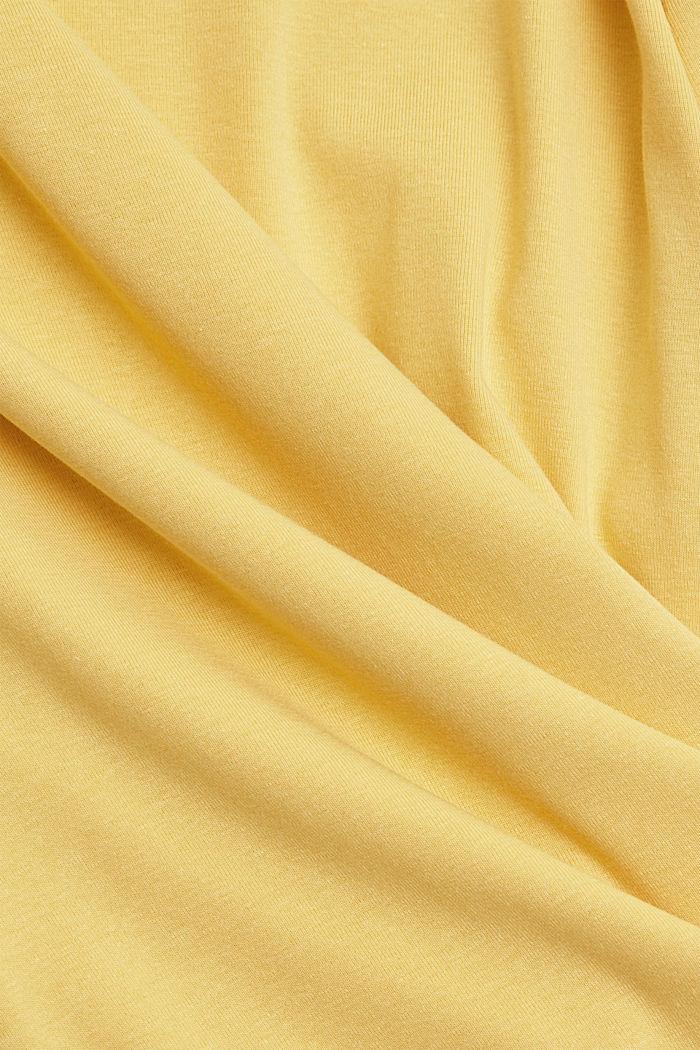 CURVY Longsleeve mit Organic Cotton/ECOVERO™, SUNFLOWER YELLOW, detail image number 4