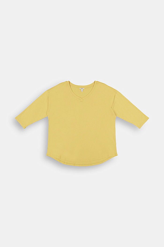 CURVY long sleeve top with organic cotton/ ECOVERO™, SUNFLOWER YELLOW, detail image number 6