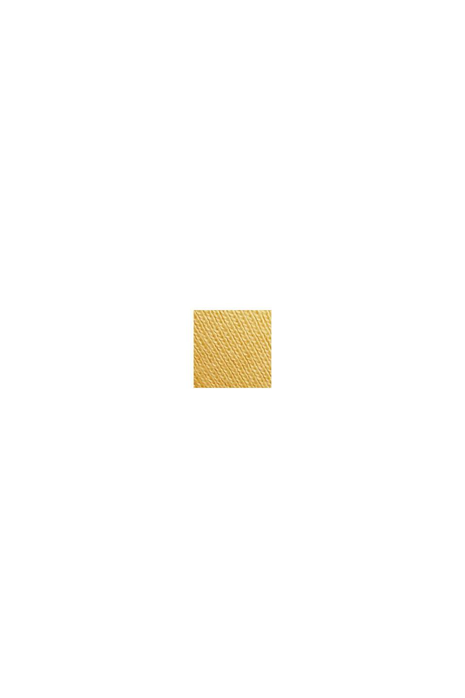 Maglia a manica lunga CURVY con cotone biologico/ECOVERO™, SUNFLOWER YELLOW, swatch