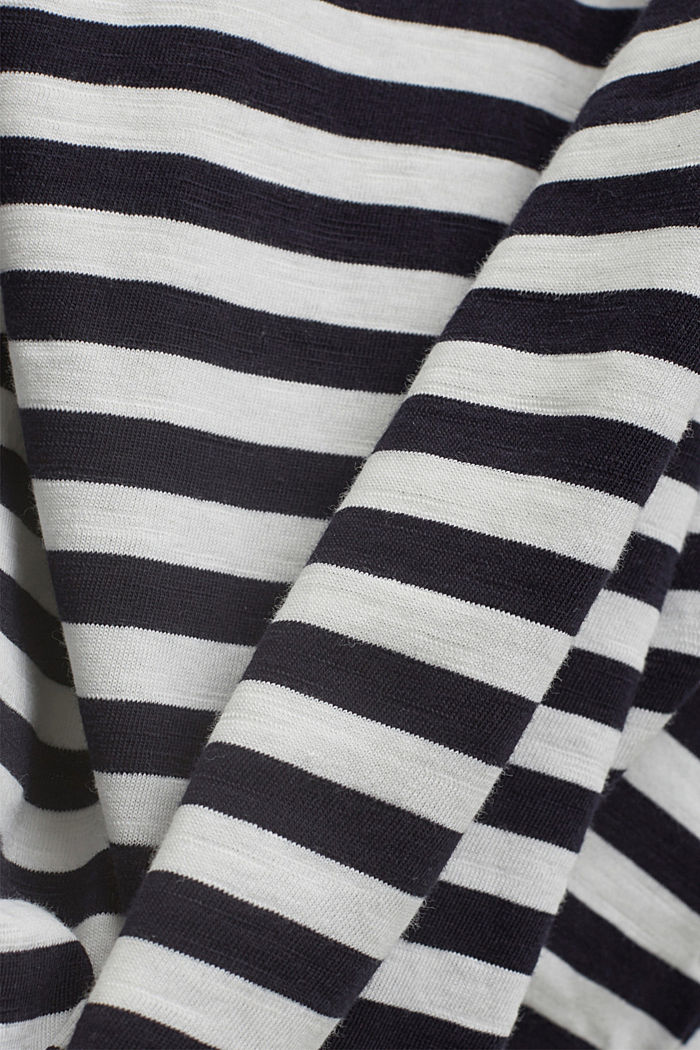CURVY long sleeve top with stripes, organic cotton, NAVY, detail image number 4
