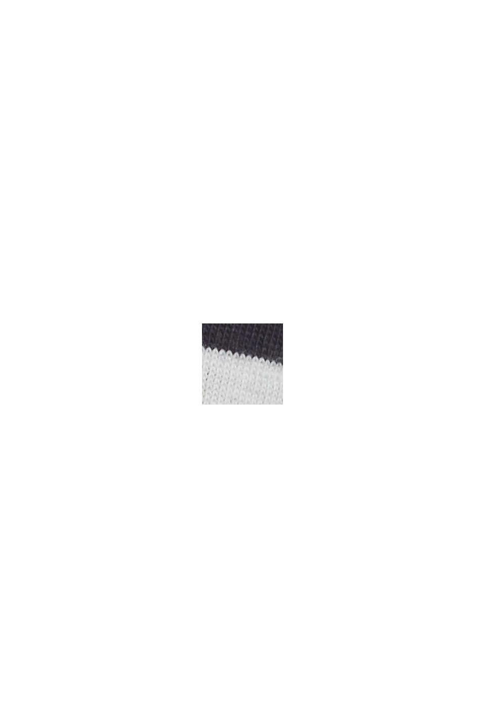 Maglia a manica lunga CURVY a righe con cotone biologico, NAVY, swatch