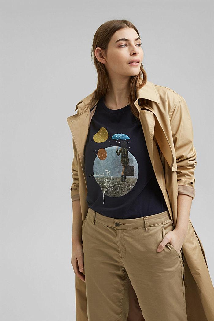 CURVY Print-Shirt, 100% Organic Cotton, NAVY, detail image number 5