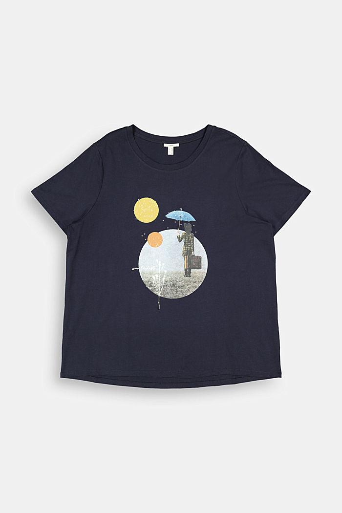 CURVY Print-Shirt, 100% Organic Cotton, NAVY, detail image number 6