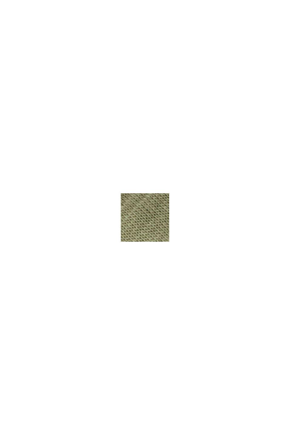 Maglia a manica lunga CURVY a righe con cotone biologico, LIGHT KHAKI, swatch