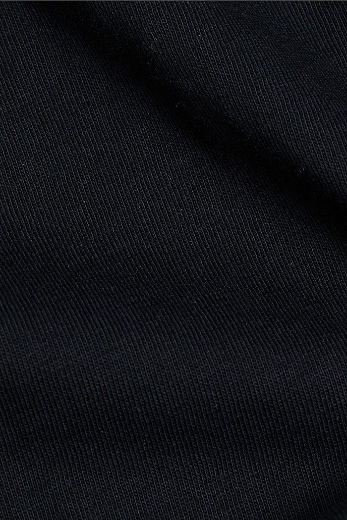 Jersey top made of 100% organic cotton, BLACK, detail image number 4
