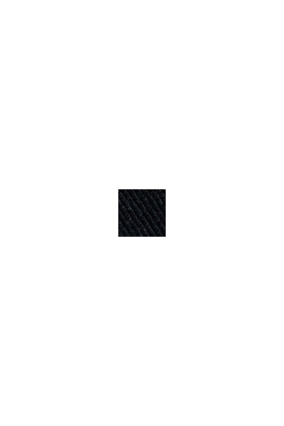 Maglia in jersey in 100% cotone biologico, BLACK, swatch