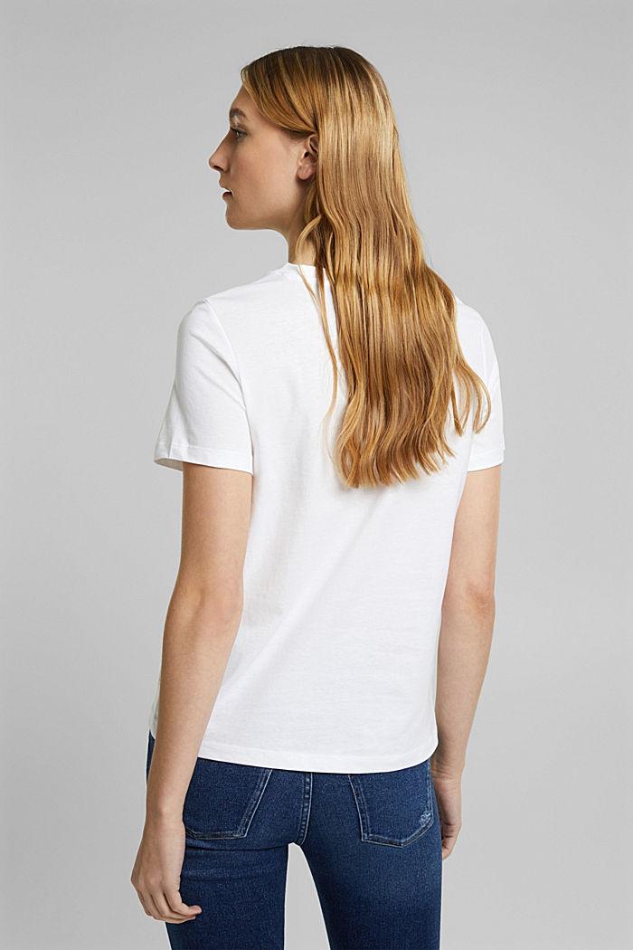 Jersey-Shirt aus 100% Organic Cotton, WHITE, detail image number 3
