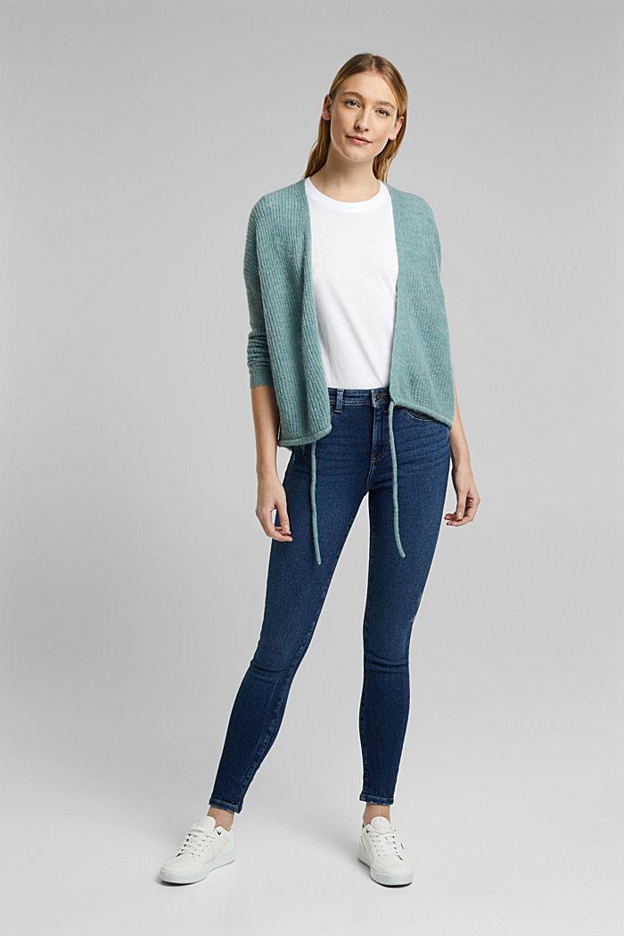 Jersey-Shirt aus 100% Organic Cotton, WHITE, detail image number 1