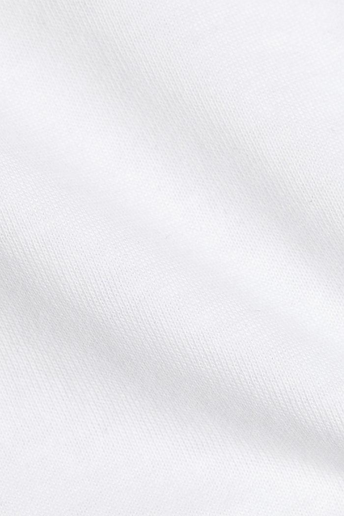Jersey-Shirt aus 100% Organic Cotton, WHITE, detail image number 4