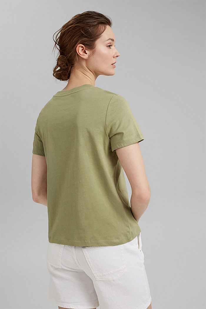 Jersey-Shirt aus 100% Organic Cotton, LIGHT KHAKI, detail image number 3