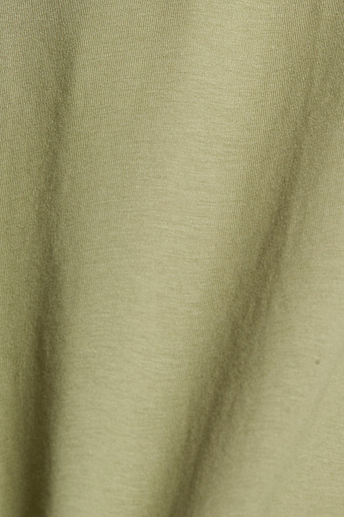 Jersey-Shirt aus 100% Organic Cotton, LIGHT KHAKI, detail image number 4