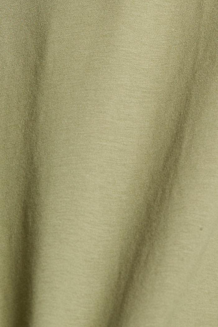 Camiseta de jersey en 100% algodón ecológico, LIGHT KHAKI, detail image number 4