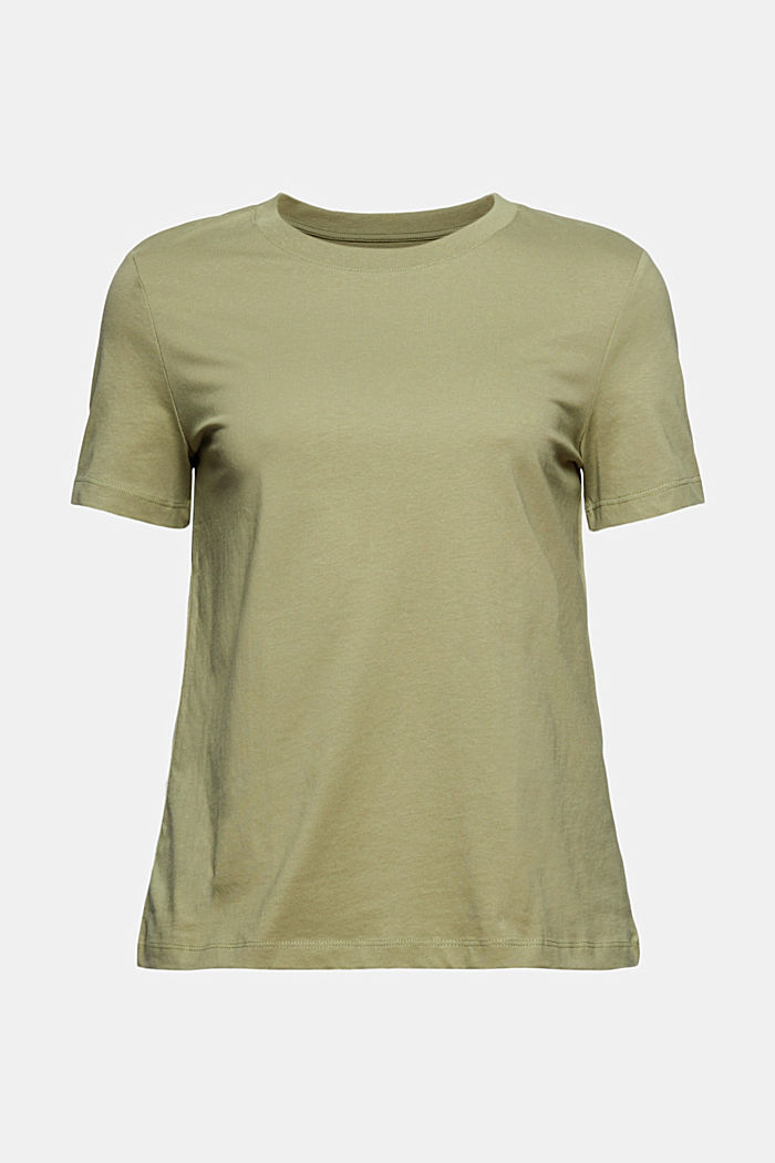 Jersey-Shirt aus 100% Organic Cotton, LIGHT KHAKI, detail image number 5