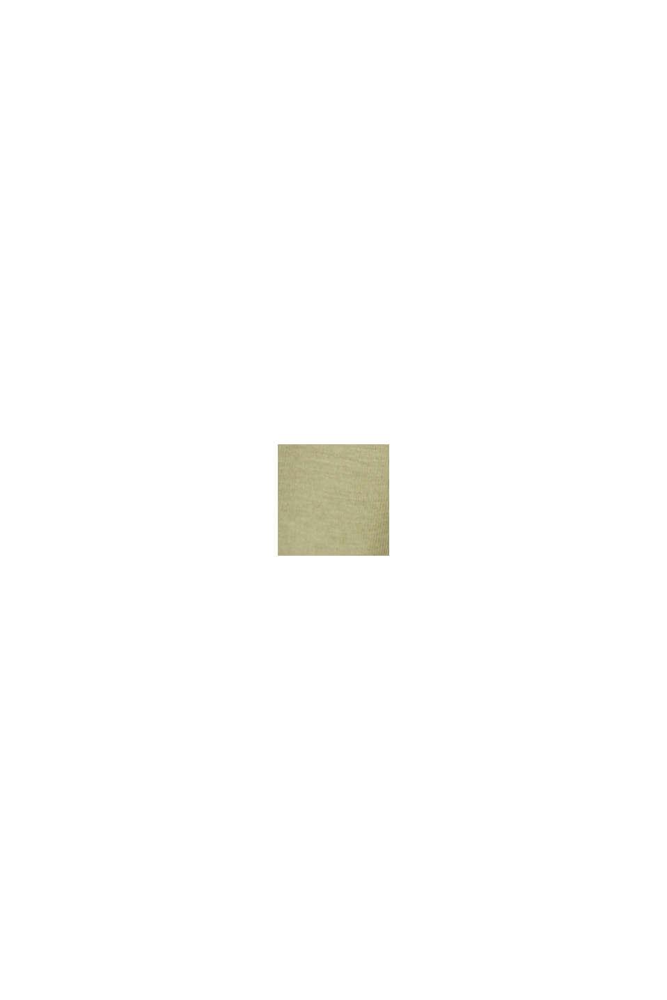 Maglia in jersey in 100% cotone biologico, LIGHT KHAKI, swatch