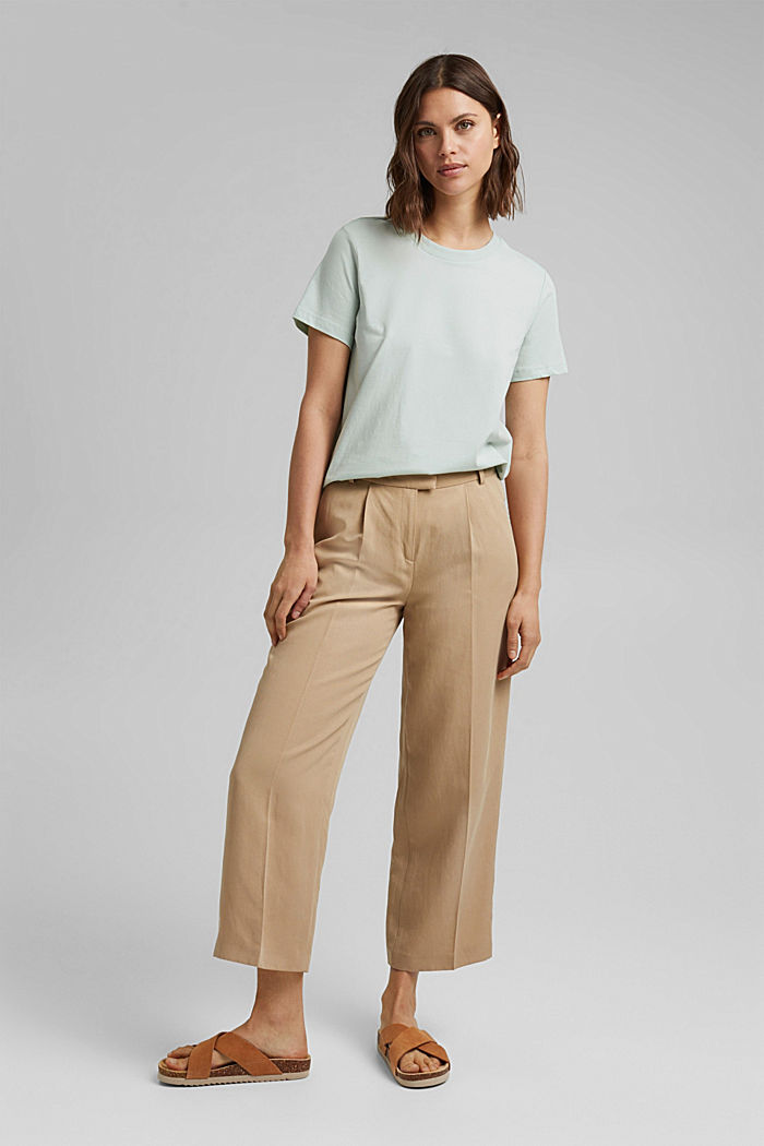 Jersey top made of 100% organic cotton, LIGHT AQUA GREEN, detail image number 1