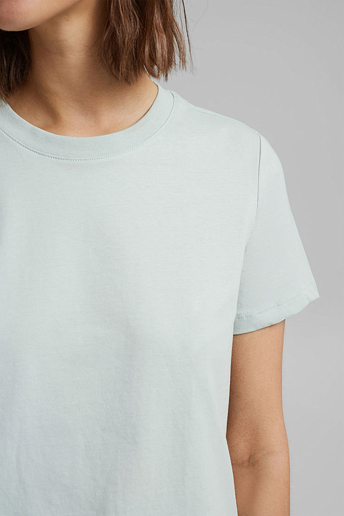 Jersey top made of 100% organic cotton, LIGHT AQUA GREEN, detail image number 2