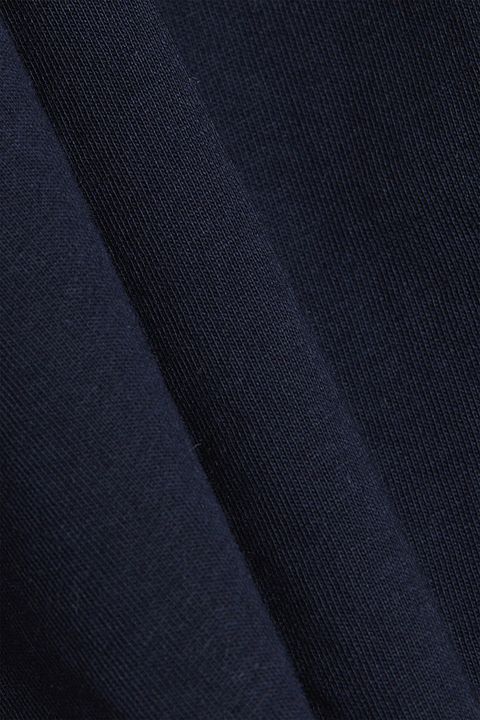 Jersey-Shirt aus 100% Organic Cotton, NAVY, detail image number 4