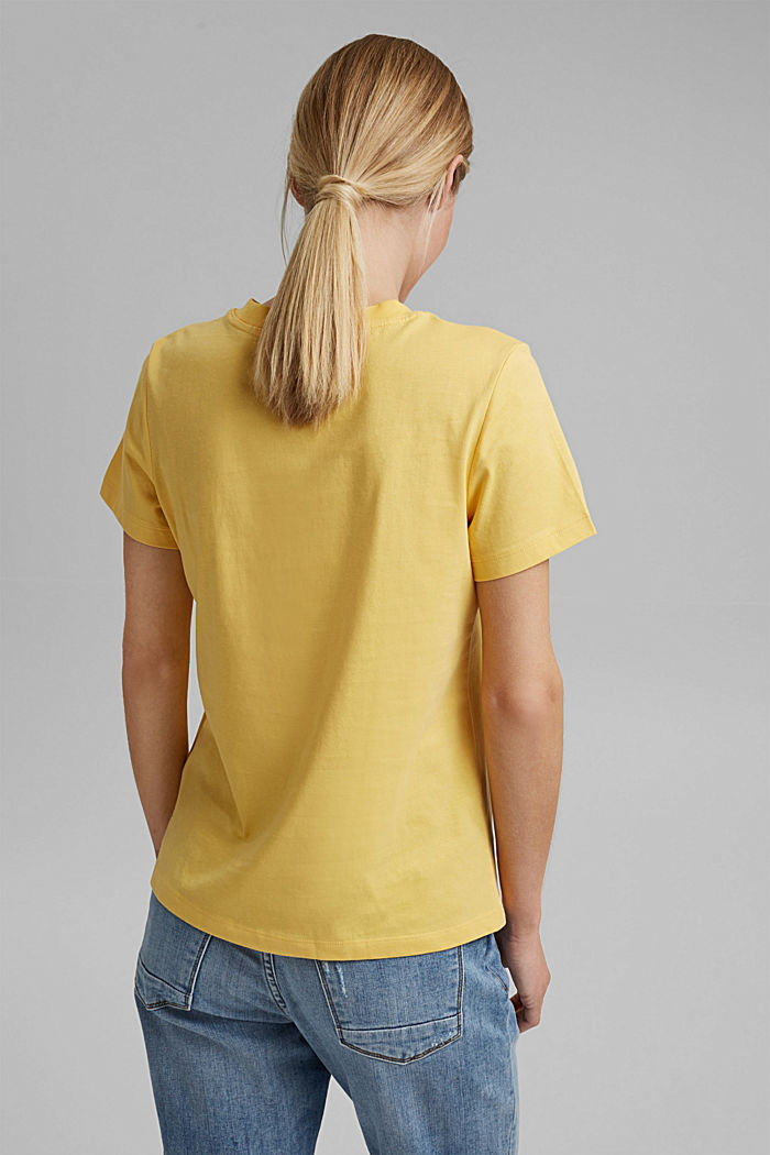 Jersey top made of 100% organic cotton, SUNFLOWER YELLOW, detail image number 3