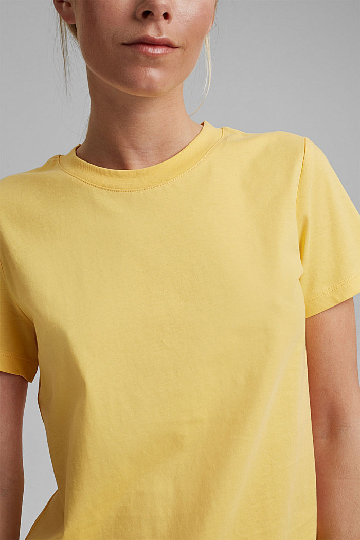 Jersey top made of 100% organic cotton, SUNFLOWER YELLOW, detail image number 2