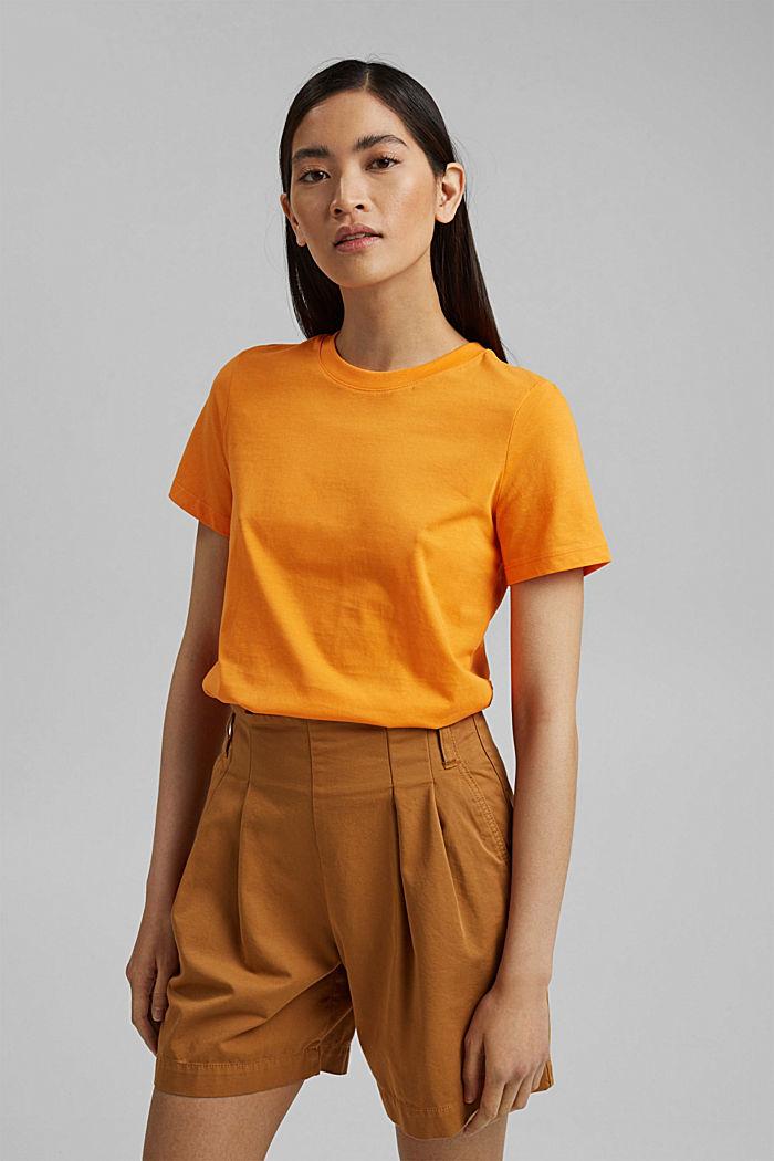Jersey top made of 100% organic cotton, ORANGE, detail image number 0
