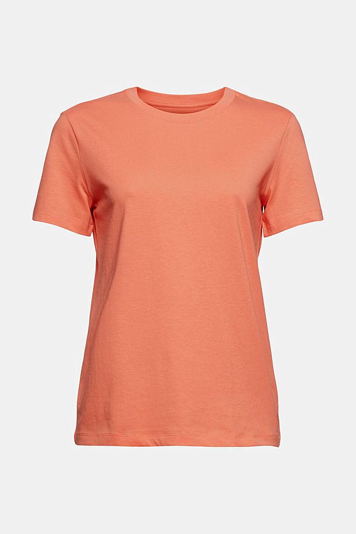 Jerseyshirt af 100% økologisk bomuld, CORAL ORANGE, detail image number 6