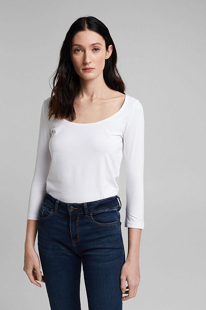 Longsleeve mit Organic Cotton, WHITE, detail image number 5