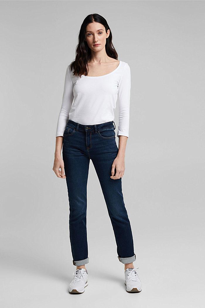 Camiseta de manga larga con algodón ecológico, WHITE, detail image number 6