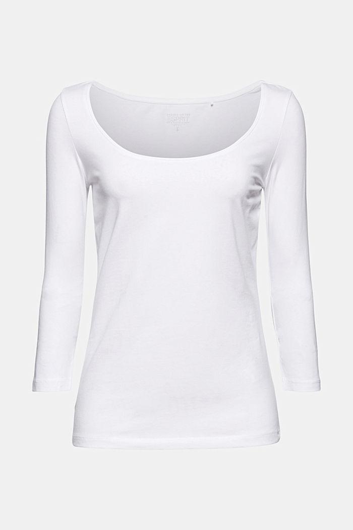 Camiseta de manga larga con algodón ecológico, WHITE, detail image number 7