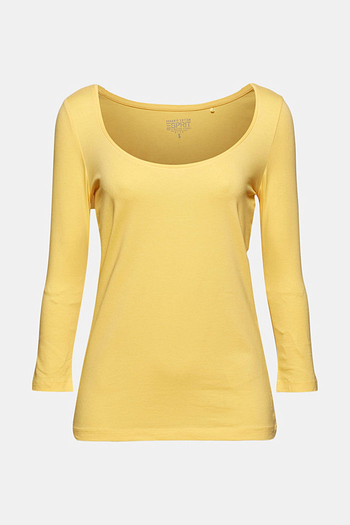 Longsleeve mit Organic Cotton, SUNFLOWER YELLOW, detail image number 6