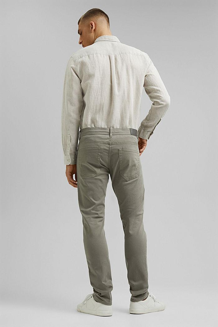 Schmal Stretch-Hose aus Organic Cotton, GREY, detail image number 3