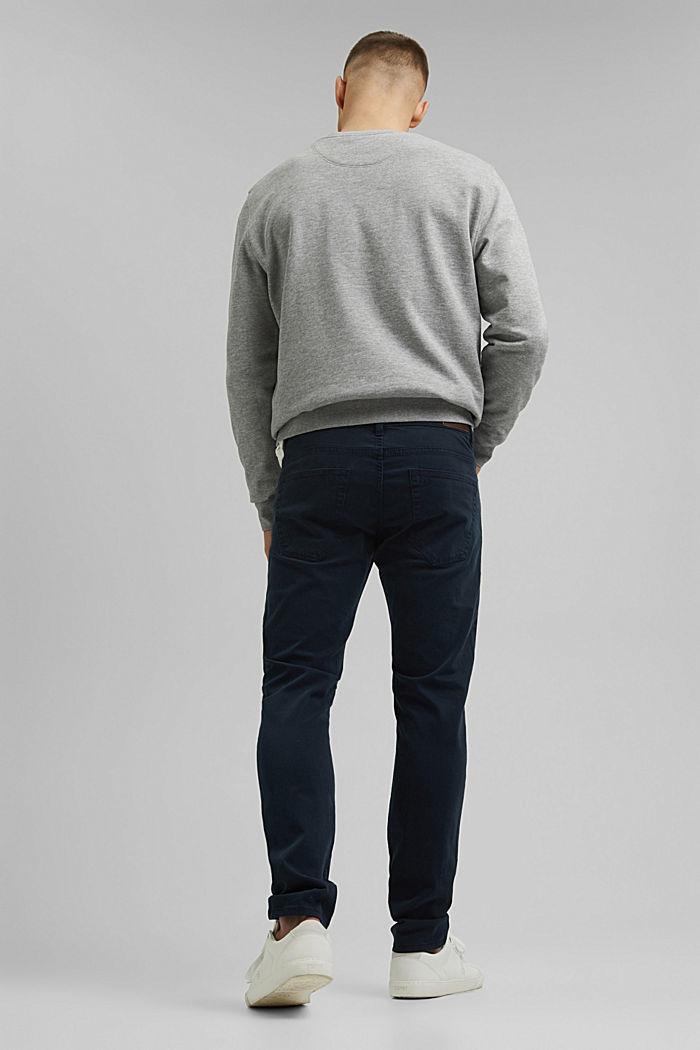 Schmal Stretch-Hose aus Organic Cotton, DARK BLUE, detail image number 3
