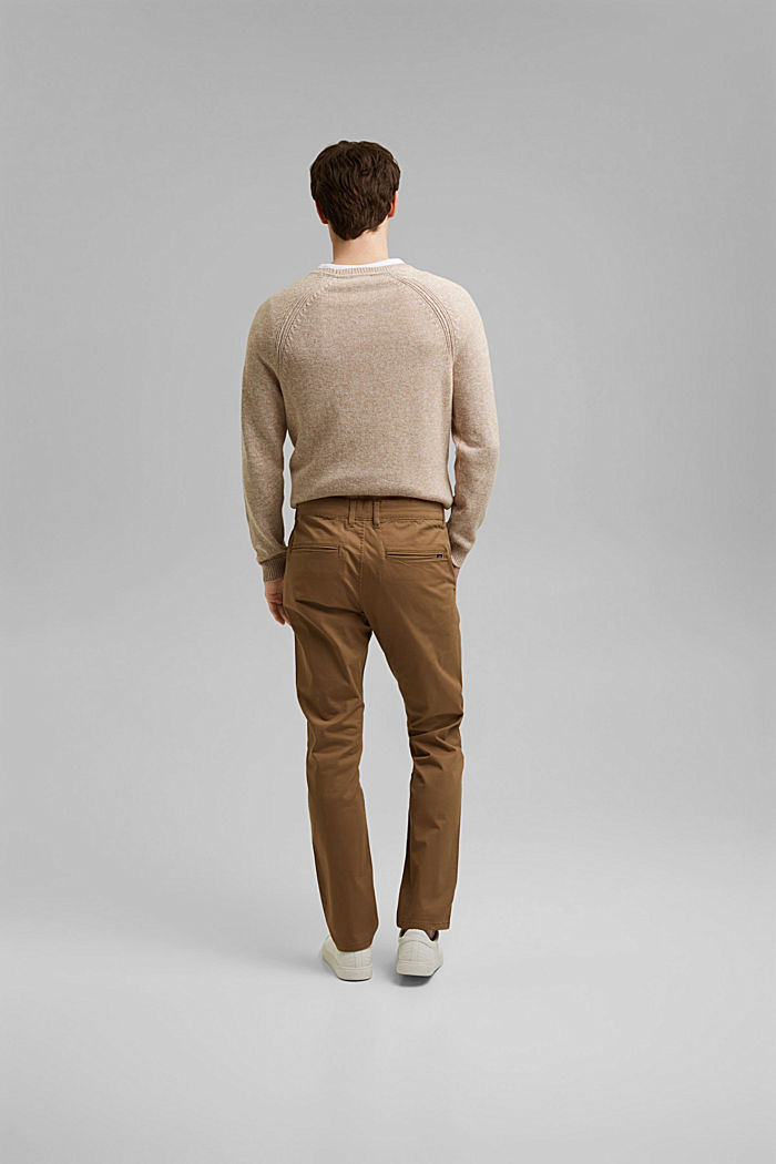Stretch chinos in organic cotton, CAMEL, detail image number 3