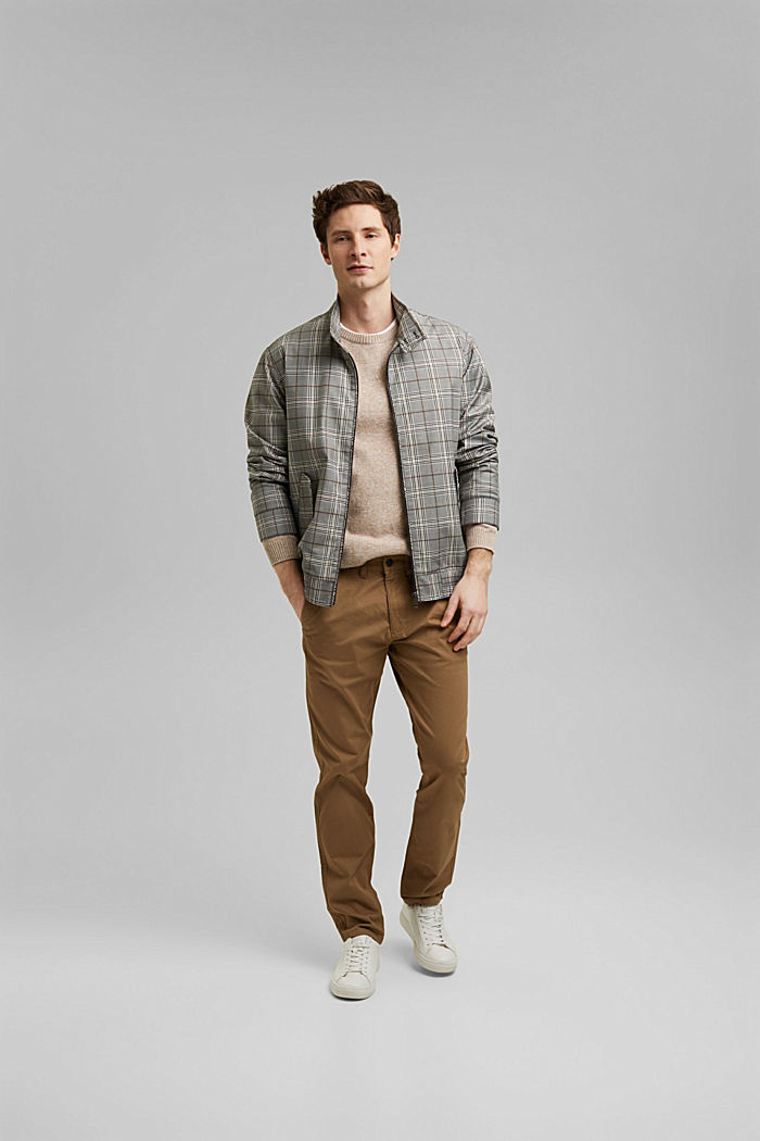 Stretch chinos in organic cotton, CAMEL, detail image number 1