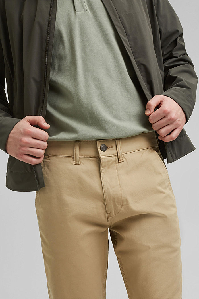 Stretch-Chino aus Organic Cotton, BEIGE, detail image number 2