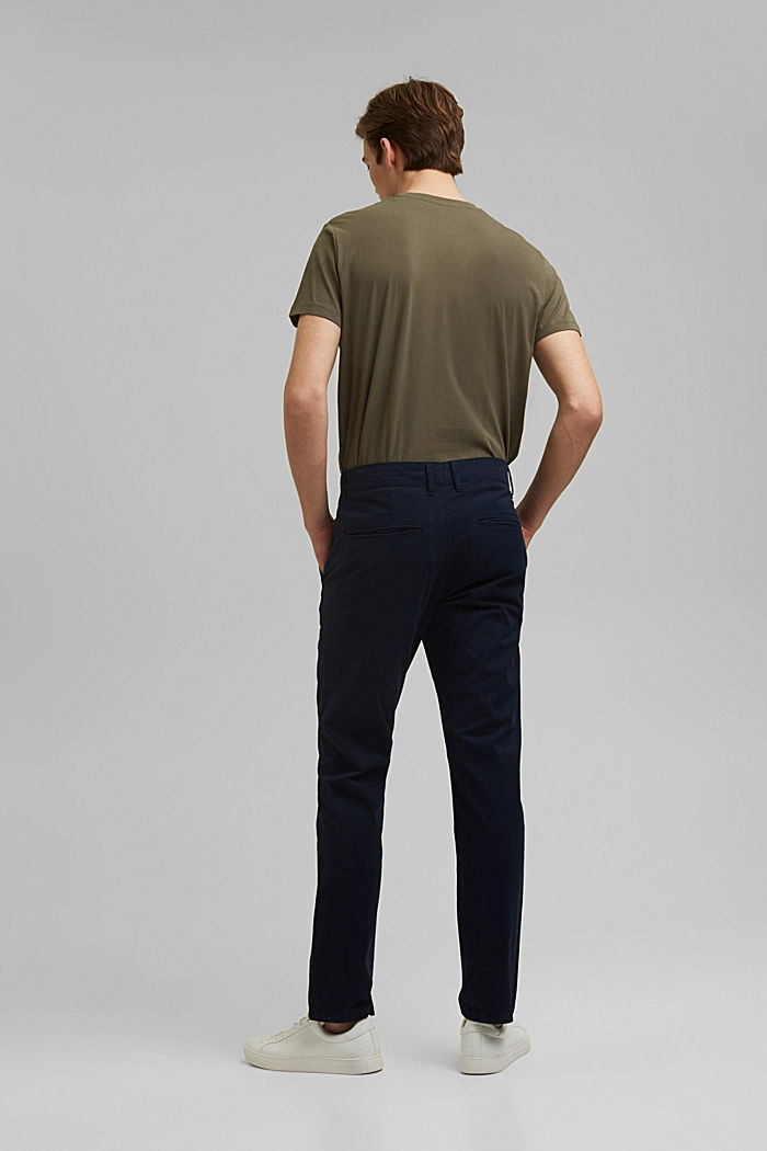 Stretch-Chino aus Organic Cotton, NAVY, detail image number 3