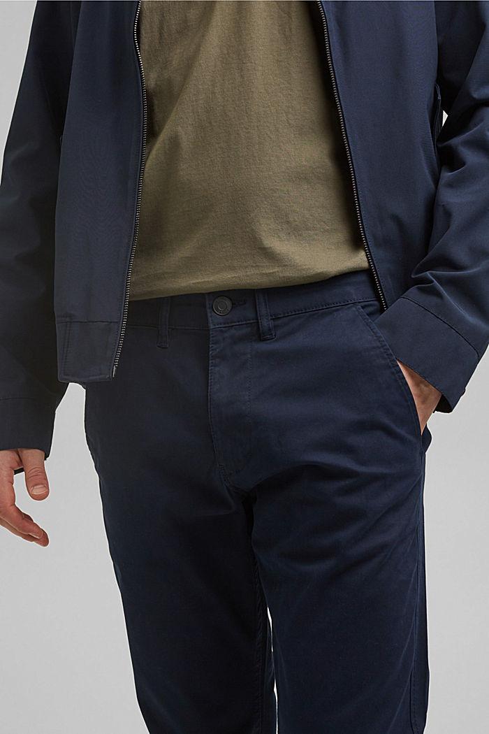 Strečové kalhoty chino z bio bavlny, NAVY, detail image number 2