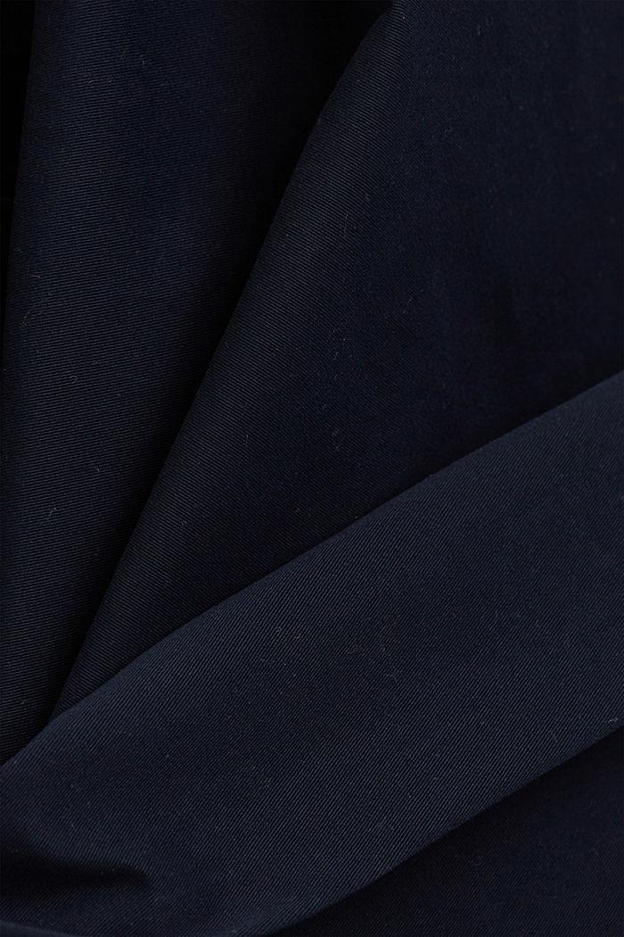 Strečové kalhoty chino z bio bavlny, NAVY, detail image number 4