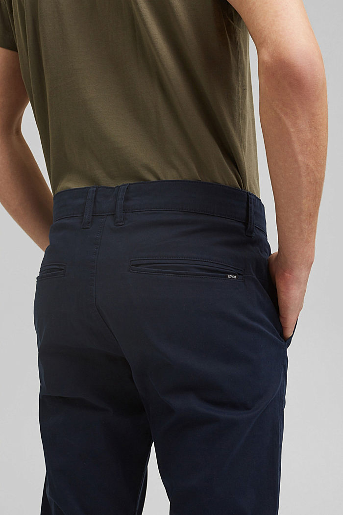 Stretch-Chino aus Organic Cotton, NAVY, detail image number 5