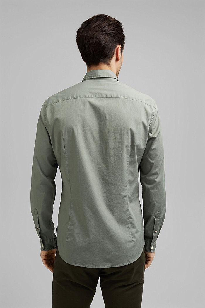 Popeline overhemd van katoen-stretch, LIGHT KHAKI, detail image number 3