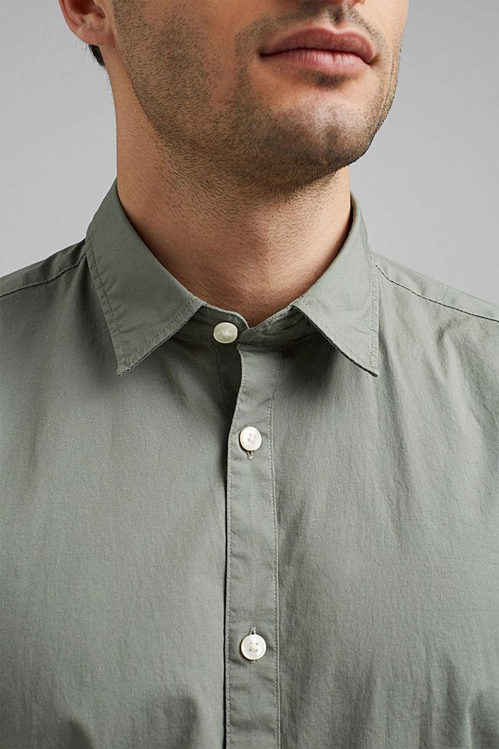 Popeline overhemd van katoen-stretch, LIGHT KHAKI, detail image number 2