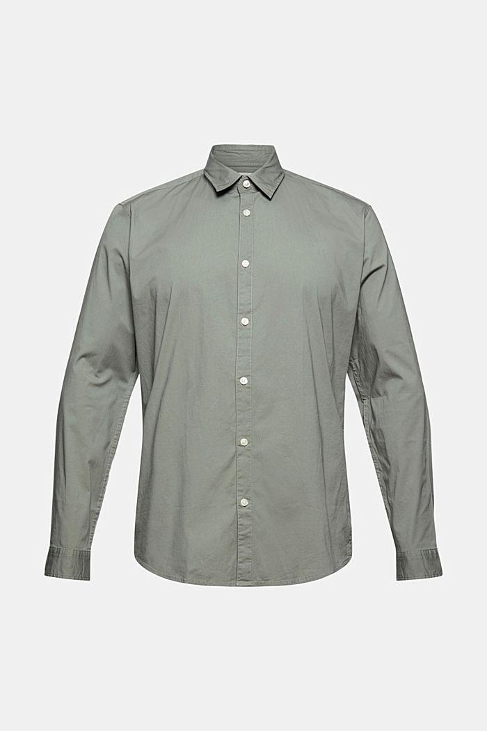 Poplin top in stretch cotton, LIGHT KHAKI, detail image number 6